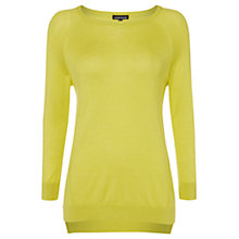 Buy Warehouse Exposed Seam Boxy Jumper, Mustard Online at johnlewis.com