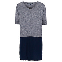 Buy French Connection Odette Knitted Dress, Blue/Melange Online at johnlewis.com