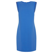 Buy Warehouse Chain Shoulder Shift Dress, Bright Blue Online at johnlewis.com