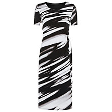 Buy Windsmoor Waterstripe Jersey Dress, Black Online at johnlewis.com