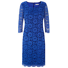 Buy Precis Petite Lace Dress, Cobalt Online at johnlewis.com