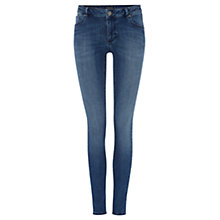 Buy Warehouse Superfit Jeans, Mid Wash Denim Online at johnlewis.com