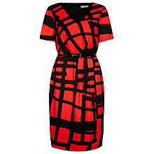 Buy Planet Graphic Print Dress, Red/Black Online at johnlewis.com