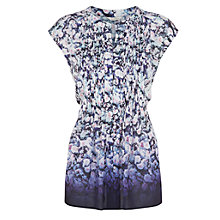 Buy Kaliko Ombre Floral Print Blouse, Blue Online at johnlewis.com