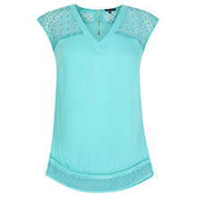 Buy Warehouse Embroidered Organza Insert Top Online at johnlewis.com