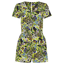 Buy Warehouse Garden Floral Playsuit, Multi Online at johnlewis.com