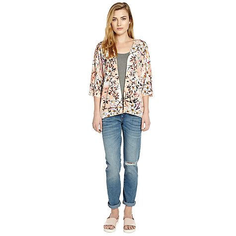 Buy Warehouse Trailing Floral Kimono Jacket, Pink Online at johnlewis.com