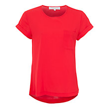Buy French Connection Polly Plains Short Sleeved T-Shirt, Royal Scarlet Online at johnlewis.com
