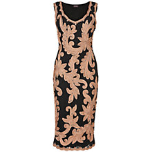 Buy Phase Eight Sabine Tapework Dress, Black/Oyster Online at johnlewis.com