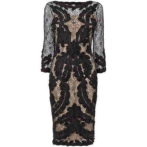 Buy Phase Eight Chantelle Tapework Dress, Black/Nude Online at johnlewis.com