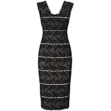 Buy Phase Eight Dahlia Lace Dress, Black/Mink Online at johnlewis.com