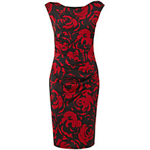 Buy Phase Eight Serenity Rose Dress, Black/Scarlet Online at johnlewis.com