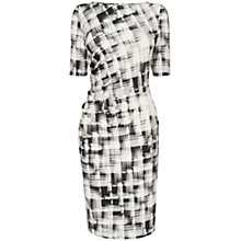 Buy Phase Eight Caley Check Dress, Ivory/Black Online at johnlewis.com