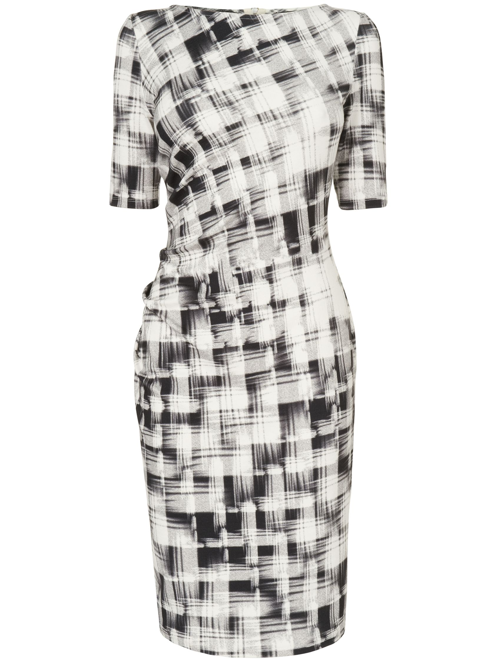 phase eight caley check dress ivory/black, phase, eight, caley, check, dress, ivory/black, phase eight, 12|18, clearance, womenswear offers, womens dresses offers, women, womens dresses, special offers, 1609255