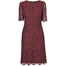 Buy Phase Eight Lula Lace Dress, Bordeaux Online at johnlewis.com
