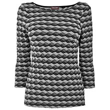 Buy Phase Eight Textured Zig Zag Top, Black/Grey Online at johnlewis.com