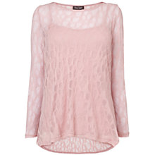 Buy Phase Eight Plain Pointelle Top, Pink Online at johnlewis.com