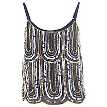 Buy Miss Selfridge 1920s Style Cami, Navy Online at johnlewis.com