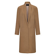 Buy Jaeger Cashmere Wool Blend Drape Coat, Camel Online at johnlewis.com