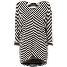 Buy Phase Eight Mildred Chevron Stripe Top, Charcoal/Oatmeal Online at johnlewis.com