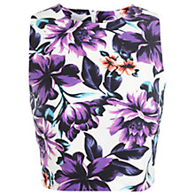 Buy Miss Selfridge Purple Floral T-Shirt, Multi Online at johnlewis.com
