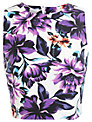 Miss Selfridge Purple Floral T-Shirt, Multi