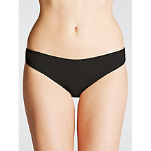 Buy John Lewis 3 Pack Microfibre Bikini-Cut Briefs, Black Online at johnlewis.com