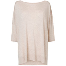 Buy Phase Eight Sandra Step Hem Jumper, Oatmeal Online at johnlewis.com