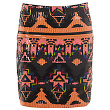 Buy Miss Selfridge Aztec Sequin Skirt, Multi Online at johnlewis.com
