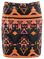 Miss Selfridge Aztec Sequin Skirt, Multi