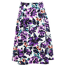 Buy Miss Selfridge Purple Floral Skirt, Multi Online at johnlewis.com