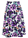 Miss Selfridge Purple Floral Skirt, Multi