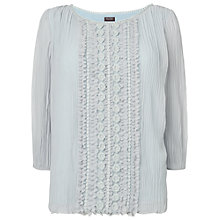 Buy Phase Eight Siobhan Pleat Blouse, Silver Online at johnlewis.com
