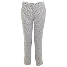 Buy Miss Selfridge Mono Daisy Trouser, White Online at johnlewis.com