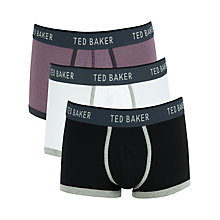 Buy Ted Baker Kineton Boxers, Pack of 3, Purple/White/Black Online at johnlewis.com