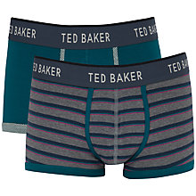 Buy Ted Baker Rohow Boxers, Pack of 2, Green/Grey Online at johnlewis.com
