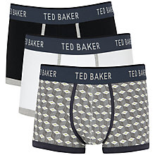 Buy Ted Baker Perez Boxers, Pack of 3, Black/White Online at johnlewis.com