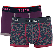 Buy Ted Baker Rowbury Boxers, Pack of 2, Purple/Grey Online at johnlewis.com