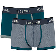 Buy Ted Baker Rowbay Boxers, Pack of 2, Green/Grey Online at johnlewis.com
