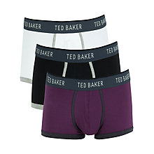 Buy Ted Baker Plain Boxers, Pack of 3, Multi Online at johnlewis.com