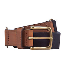 Buy Polo Ralph Lauren Plain Canvas Belt, Navy Online at johnlewis.com