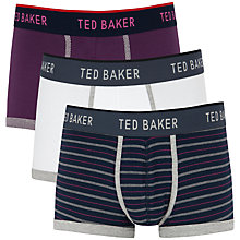 Buy Ted Baker Rios Boxers, Pack of 3, Purple/White/Blue Online at johnlewis.com