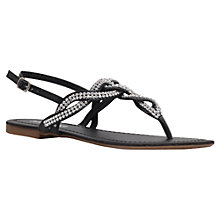 Buy Miss KG Danni Flat Sandals, Black Online at johnlewis.com