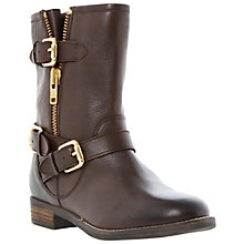 Buy Dune Robbin Leather Calf Boots, Brown Online at johnlewis.com