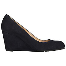 Buy L.K. Bennett Bayleen Suede Wedge Court Shoes, Navy Online at johnlewis.com