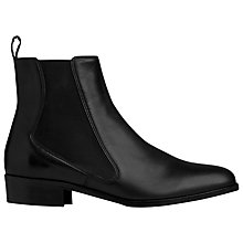 Buy L.K. Bennett Brenda Leather Chelsea Boots, Black Online at johnlewis.com