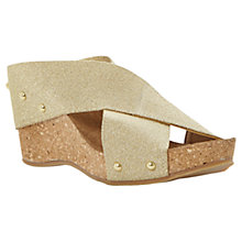 Buy Dune Gladley Wedge Sandals, Metallics Online at johnlewis.com