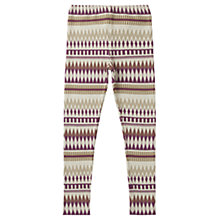 Buy Jigsaw Junior Girls' Jacquard Leggings, Multi Online at johnlewis.com