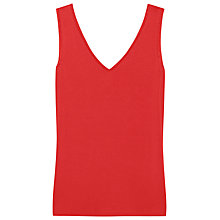 Buy Reiss Ona Jersey Top, Red Online at johnlewis.com