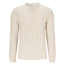 Buy John Lewis Made In England Honeycomb Aran Cable Jumper Online at johnlewis.com